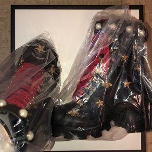 e671f4def58 Gucci Shoes - Gucci NIB Leather sz7 ankle Combat boot-Authentic